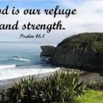 God my refuge & strength